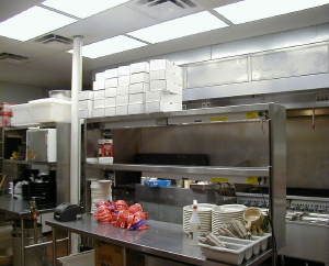 Restaurant Kitchen Lighting beffel lighting, jackson, michigan, provided the restaurant